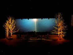 Christmas stage design - churchstagedesignideas.com @Ryan Steidinger similar to what you and I spoke this morning
