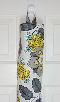 Charmant Plastic Bag Holder Grocery Bag Storage Kitchen Bag Storage Grey Gold Floral  Storage