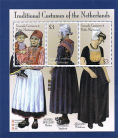 P8 Buttons & Fabrics: Traditional Costumes : Dutch Costumes on Postage Stamps