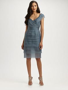 Carmen Marc Valvo - Silk Organza Dress - Saks.com