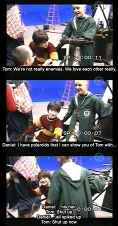 "Maybe enemies were actually friends. Or maybe not. | 28 Times The ""Harry Potter"" Cast Were Behind-The-Scenes Best Friends"