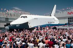 Space Shuttle Enterprise rollout, Palmdale, California, 17 September 1976 (Roger Ressmeyer CORBIS)