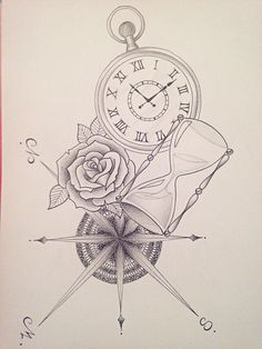 Photos Horloge Tattoo Dessin Fusain Pinterest Tattoos Tattoo