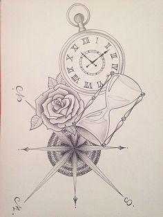 23 meilleures images du tableau tatouage montre gousset   Sketch tattoo, Lotus Tattoo et Clock ...