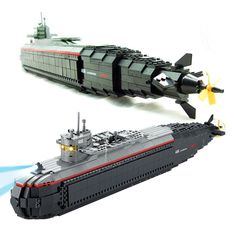 59.50$  Buy now - http://alikaz.worldwells.pw/go.php?t=32787756125 - Model building kit compatible with lego nuclear-powered submarine 3D block Educational model building toys hobbies for children