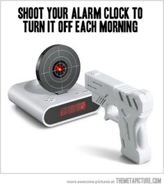 Alarm Clock with Target shut up and take my money Tech Gifts For Dad, Cool Stuff, Random Stuff, Funny Stuff, Man Stuff, Random Things, Ways To Wake Up, Things I Want, Good Things