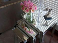 Mirror furniture brightens up any room while adding style. Browse these HGTV…