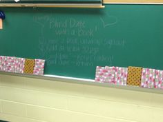 "BLIND DATE WITH A BOOK: Love this idea to teach kids giving a book a chance.  ""Blind Date with a Book""  Activity for independent reading.  Wrap up books and decorate with key words that relate to each.  Students pick a book, unwrap it, record it and read for 30 pages.  Good date=keep it, finish it, review it.  Bad date=return it, and write about why it wasn't the book for you.  Great ""get to know yourself as a reader"" activity!  I am SO doing this!"