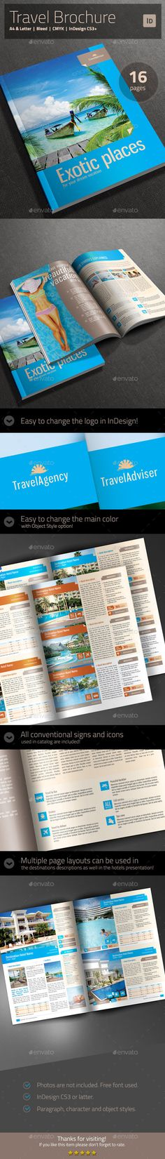 Travel Agency Brochure   Catalog Template Brochures, Catalog and - travel brochure