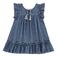 Zef Almeria Star Dress-product – - Women's Need ideas Girls Frock Design, Baby Dress Design, Baby Girl Dress Patterns, Frocks For Girls, Little Girl Dresses, Girls Dresses, Baby Frocks Designs, Kids Frocks Design, Kind Mode
