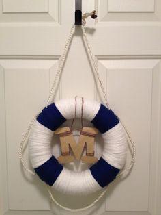 love it! hang on the door in nautical room