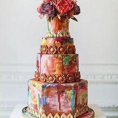 Season: Autumn Inspired cake. pic via @elizabethscakeemporium #cake #inspiration #event #autumncake #cakedesign