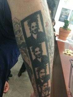 Billie's tattoos of Adie, his favourite tattoo and the reason why he wears 3/4 length sleeves or one sleeve rolled up so you can see it :)
