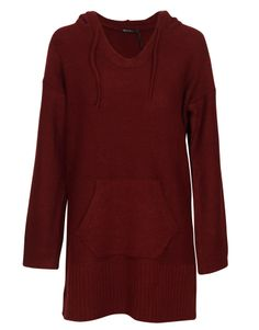 Qed London Oversized Knitted Tunic Jumper w Hood in Burgundy £ 14.95 #chiarafashion