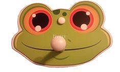 Children's Frog Faced Coat Rack