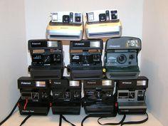 Polaroid Close Up One Step Flash 600 Film Sun 600 Lot of 9 Instant Film Cameras #Polaroid