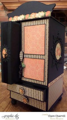 An Eerie Tale Armoire Graphic 45 designed by Clare Charvill