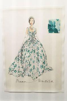 Queen, Princess Diana & Princess Margaret Exhibition - Fashion Rules Restyled (Vogue.co.uk) Princess Elizabeth, Princess Margaret, Queen Elizabeth Ii, Royal Fashion, Fashion Art, Vintage Fashion, Fashion History, Princess Diana Exhibition, Norman Hartnell
