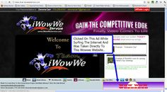http://mysmartmediadesktop.info/blog  Wowwe rep advertising their business using Home Page Pays Dynamic Bar