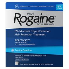 Men's Rogaine Extra Strength Hair Regrowth Treatment, 3 Month Supply 1 ea (Pack of 4) * This is an Amazon Affiliate link. See this great product.