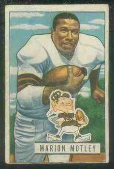 top 100 baseball cards of all time | 1951 Bowman FB #109 Marion Motley Football cards value