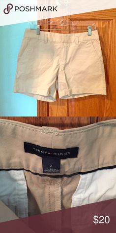 """NWOT Tommy Hilfiger 3"""" Shorts NWOT Tommy Hilfiger Shorts. In perfect condition because they have never been worn. Khaki in a size 2. Tommy Hilfiger Shorts Bermudas"""