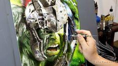 Airbrush Designs, Airbrush Art, Hulk, Thor, Airbrush Shirts, Air Brush Painting, Anime, Tattoo Ideas, Youtube
