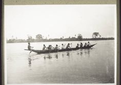 Schoolboys in a canoe. :: International Mission Photography Archive, ca.1860-ca.1960