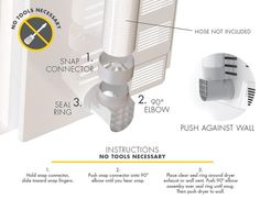 Ziggurat Products provide the Best Dryer Vent. It is the easiest way to install your dryer. No hose clamp needed, no tools required and it's the best dryer vent adapter to help connect to your dryer duct. Dryer Vent Hose, Clean Dryer Vent, Laundry Room Organization, Laundry Room Design, Laundry Rooms, Laundry Area, Organizing, Indoor Dryer Vent, Best Dryer