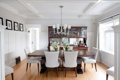 Dining room from our character home renovation on West 10th Avenue in Vancouver, BC. *Re-pin to your own inspiration board* Character Home, Inspiration Boards, Home Renovation, Vancouver, This Is Us, Dining Room, Interior Design, Table, Furniture