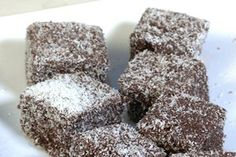 Dark Chocolate Lamingtons from Julie Le Clerc's Cafe Secrets My Favorite Food, Favorite Recipes, My Favorite Things, New Zealand Food, Yummy Cakes, Allrecipes, Cake Recipes, Sweet Tooth, Good Food