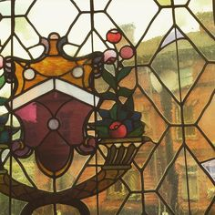Close up of a stained glass window in Byers Hall at #CCAC Allegheny Campus.