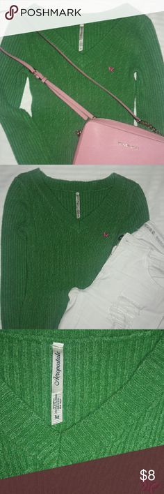 Aeropostale Sweater This cute piece can add boldness to a skirt, slacks or pair of jeans... Aeropostale Sweaters V-Necks