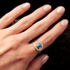 Black Onyx Ring Black Stone Ring Sterling Silver Ring