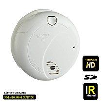 Day and Night Vision Side-View First Alert Smoke Detector Hidden Camera 1080P High Definition Secureshot DVR Long Hours Battery up to 20hrs, 6 months standby, Up to 64GB SD Support