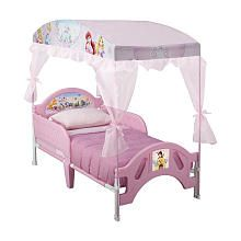 Disney Princess Canopy Toddler Bed  @Angela Shortledge
