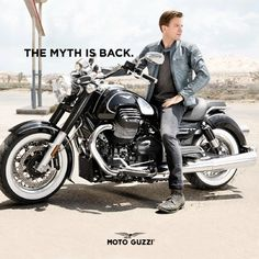 Ewan McGregor for Moto Guzzi Eldorado: the myth is back.
