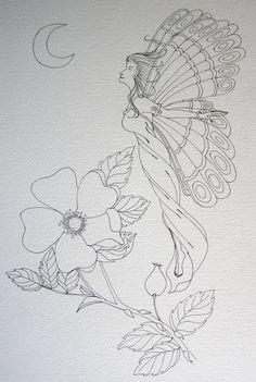 Fairy outline 1 by Artwyrd on DeviantArt