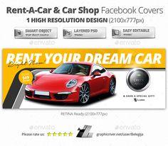 RENT-A-CAR & Car Shop Facebook Covers