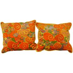 Vintage 1970s Jack Lenor Larsen Fabric Pillows | From a unique collection of antique and modern pillows and throws at https://www.1stdibs.com/furniture/more-furniture-collectibles/pillows-throws/