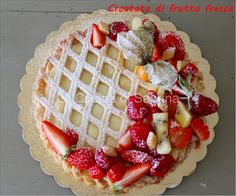 Sabrina's cuisine: Custard and fruit tart … – Pastry World Fresh Fruit Tart, Breakfast Cake, Food Illustrations, Cakes And More, Custard, Food And Drink, Favorite Recipes, Sweets, Baking