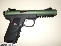 Handgun - Ruger Mark III 22lr with a tactical solutions custom barrel.