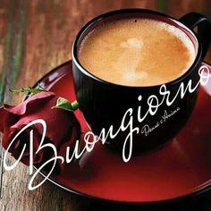 Good Morning Greetings, Good Morning Wishes, Good Morning Quotes, Good Morning Coffee, Coffee Time, Italian Memes, I Love Coffee, Latte, Tableware