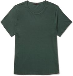 <a href='http://www.mrporter.com/mens/Designers/Theory'>Theory</a>'s T-shirt is one of those reliable pieces you can throw on with just about anything. It's cut from soft cotton-jersey and has a comfortable, regular fit. The hem is curved, so it looks neat when left un-tucked.