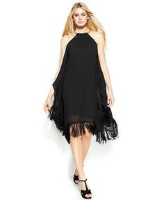 MICHAEL Michael Kors Fringed Draped Halter Dress from Macy's on Catalog Spree, my personal digital mall. Michael Kors, Holiday Outfits, Beautiful Outfits, Beautiful Clothes, Dresses Online, What To Wear, Clothes For Women, My Style, Skirts