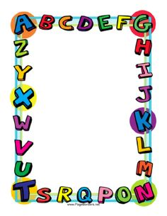 7 Best Images of Free Printable Alphabet Borders - Free Printable Alphabet Page Border Clip Art, Free Printable School Border Paper and Free Printable School Borders Page Boarders, Boarders And Frames, School Border, School Frame, Printable Labels, Printable Alphabet, Printable Paper, Free Printables, Memo Boards