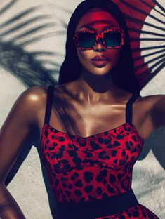 Dolce & Gabbana enlists some true star power with Naomi Campbell as the face of their latest Animalier eyewear campaign. Photographed by Mert & Marcus, Naomi wears Dolce's signature animal prints in sleek and sexy styles that make for some hot advertisements.
