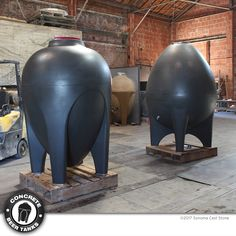 American-made Concrete Wine Tanks by Sonoma Cast Stone Brewery Decor, Home Brewery, Beer Brewery, Beer Maker, Beer Snob, Cast Stone, Wine And Beer, Fine Wine, Wine Country