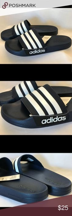 super popular 2ec6c 13bef Adidas Adilette Shower Slides Slippers Men s Blue New with Tag Adidas  Adilette Shower Slides Men s size