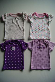 Turn newborn onesies into 18-inch doll nightgowns via NestFullOfEggs.Blogspot.com